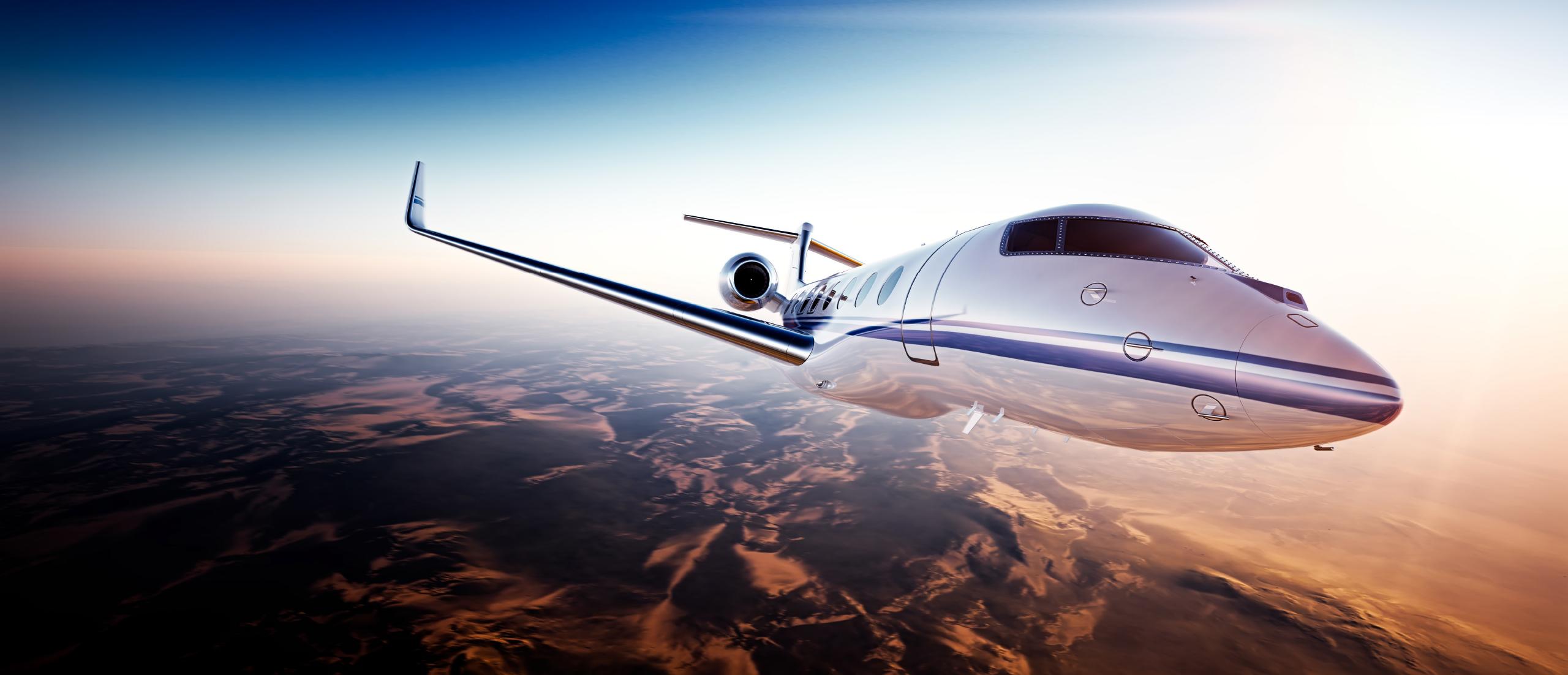 Jet Flying in the Sky